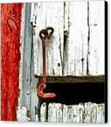 Old Barn Door Hook Canvas Print by Julie Dant