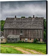 Old Barn On A Stormy Day Canvas Print