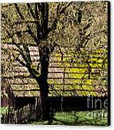Old Barn Canvas Print by Ron Sanford