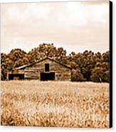 Old Barn Staying Silent  Canvas Print by Jinx Farmer