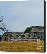 Old Barns In The Heartland Canvas Print by Alys Caviness-Gober