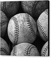 Old Baseballs Canvas Print by Garry Gay