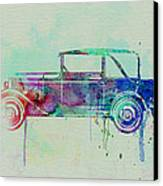Old Car Watercolor Canvas Print