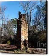 Old Chimney Still Standing Canvas Print by Jinx Farmer