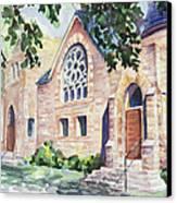 Old Church Canvas Print by Svetlana Howe