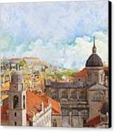Old City Of Dubrovnik Canvas Print