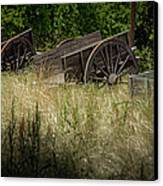 Old Cotton Bale Wagons Canvas Print by Allen Biedrzycki