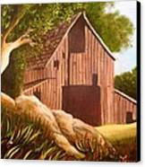 Old Country Barn Canvas Print by Janis  Tafoya