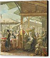 Old Covent Garden Market Canvas Print by George the Elder Scharf