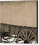 Old Covered Wagon Out West Canvas Print by Dan Sproul