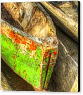 Old Dug-out Canoes Canvas Print by Debra and Dave Vanderlaan