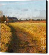 Old English Landscape Canvas Print by Pixel Chimp