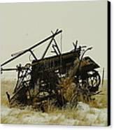 Old Farm Equipment Northwest North Dakota Canvas Print by Jeff Swan