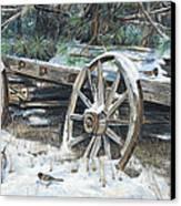 Old Farm Wagon Canvas Print by Nick Payne