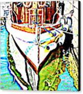We Will Soon Go Away With The Old Ferry  Canvas Print