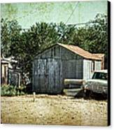 Old Garage And Car In Seligman Canvas Print by RicardMN Photography
