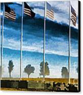 Old Glory-the American Flag Canvas Print by Luther Fine Art
