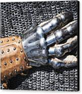 Old Glove Of A Medieval Knight Canvas Print by Matthias Hauser