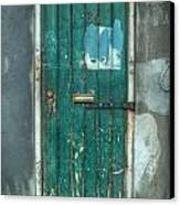 Old Green Door In Quarter Canvas Print
