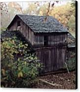 Old Grist Mill Canvas Print by Thomas Woolworth