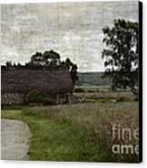 Old House In Culloden Battlefield Canvas Print