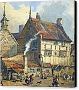 Old Houses And St Olaves Church Canvas Print