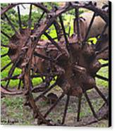 Old Iron Detail 2 Canvas Print by Barbara Snyder