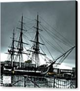 Old Ironsides Blue Tone Canvas Print by Linda Ryan