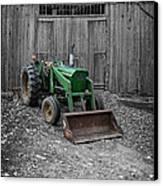 Old John Deere Tractor Canvas Print by Edward Fielding