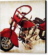Old Motor-bike Canvas Print by Angela Doelling AD DESIGN Photo and PhotoArt