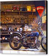 Old Motorcycle Shop 2 Canvas Print