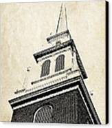 Old North Church In Boston Canvas Print