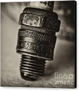 Old Number 48 Spark Plug Canvas Print by Wilma  Birdwell
