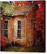 Old One Room School House In Autumn Canvas Print by Julie Dant