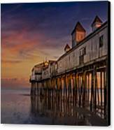 Old Orchard Beach Pier Sunset Canvas Print by Susan Candelario