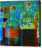 Old Pharmacy Bottles - 20130118 V1a Canvas Print by Wingsdomain Art and Photography