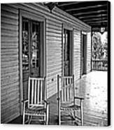 Old Porch Rockers Canvas Print