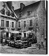 Old Quebec City Bw Canvas Print