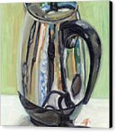 Old Reliable Stainless Steel Coffee Perker Canvas Print