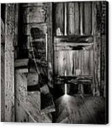 Old Room - Rustic - Inside The Windmill Canvas Print by Gary Heller