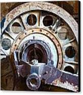 Old Rusty Vintage Industrial Machinery Canvas Print