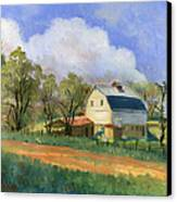 Old Saunders Barn Canvas Print by Jeff Brimley