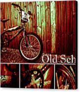 Old School Bmx - Pk Collage Colour Canvas Print