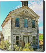 Old School House Bannack Ghost Town Montana Canvas Print by Jennie Marie Schell