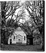 Old School House In The Woods Canvas Print by Thomas J Rhodes