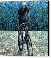 Old School Riding Canvas Print by Ned Shuchter
