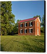 Old Schoolhouse Canvas Print by Brian Jannsen
