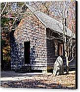 Old Schoolhouse Building Canvas Print by Susan Leggett