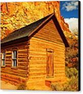 Old Schoolhouse Near Capital Reef Utah Canvas Print by Jeff Swan