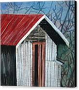 Old Shed Canvas Print by Shirley Shepherd